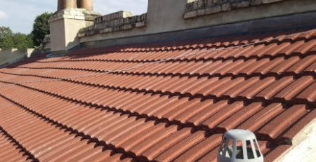 New tiles on roof